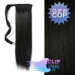Vlasový clip in cop 50cm - uhľovočierna #1