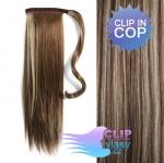 Vlasový clip in cop 50cm - tmavý melír #4/27