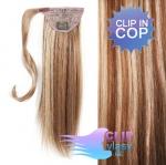 Vlasový clip in cop 50cm - svetlý melír #12/613