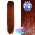 Vlasový clip in cop 50cm - medená #350