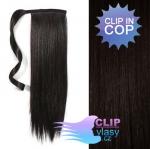 Vlasový clip in cop 60cm - prírodná čierna #1b
