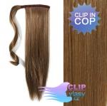 Vlasový clip in cop 60cm - svetlo hnedá #12