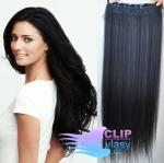 Vlasový clip in pás 40cm - uhľovočierna #1