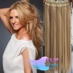 Vlasový clip in pás 40cm - prírodná/svetlejšia blond #18/22