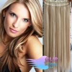 Vlasový clip in pás 40cm - platina/svetlo hnedá #60/16