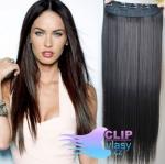 Vlasový clip in pás 50cm - prírodná čierna #1b