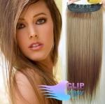 Vlasový clip in pás 50cm - svetlo hnedá #12