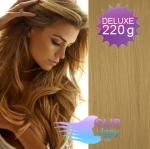 Vlnité DELUXE Clip in vlasy REMY - prírodná blond #22