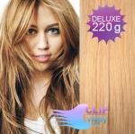 Vlnité DELUXE Clip in vlasy REMY - prírodná/svetlejšia blond #18/22