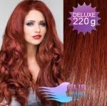 Vlnité DELUXE Clip in vlasy REMY - medená #350