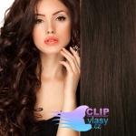 Vlnité clip in vlasy - tmavohnedá #2