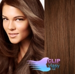 Vlnité clip in vlasy - svetlejšia hnedá #6