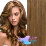 Vlnité clip in vlasy - svetlo hnedá #12