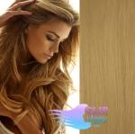 Vlnité clip in vlasy - prírodná blond #22