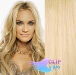 Vlnité clip in vlasy - beach blond #613