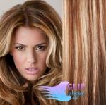 Vlnité clip in vlasy - svetlý melír #12/613