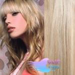 Vlnité clip in vlasy - platina/svetlo hnedá #60/16
