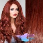 Vlnité clip in vlasy - medená #350